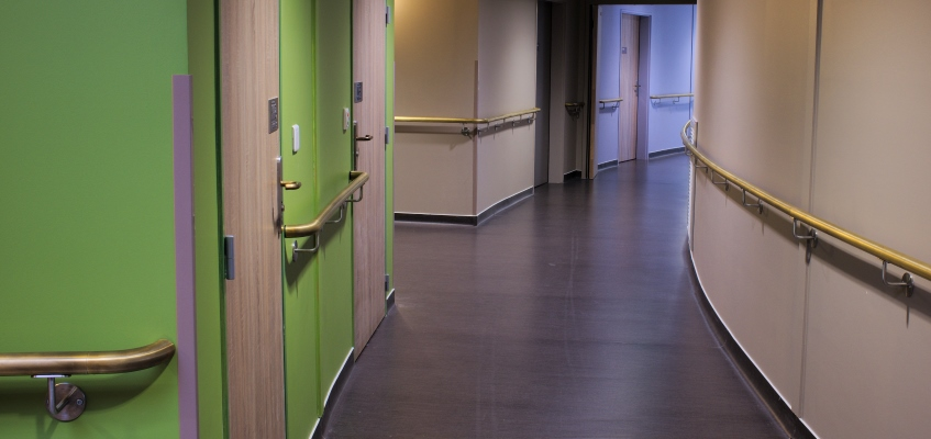 Antimicrobial Copper handrails in the Avize Care Home, France