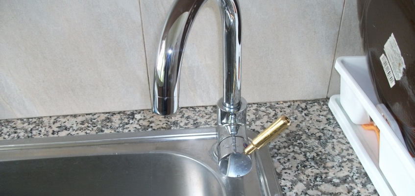 Antimicrobial Copper tap handle at Voula Kindergarten, Greece