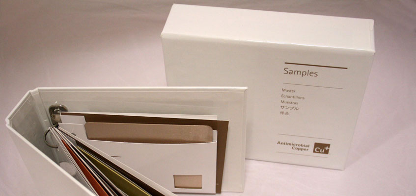 Antimicrobial Copper boxed samples