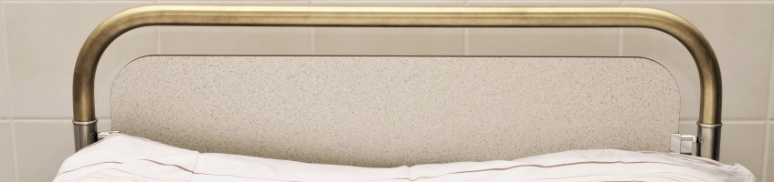An antimicrobial copper bed rail manufactured by Schlosserei Röll GmbH