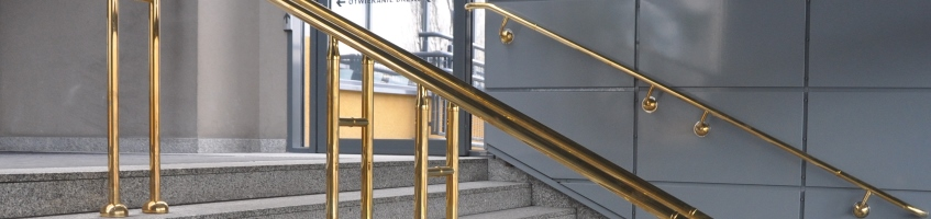 Antimicrobial copper hand rails