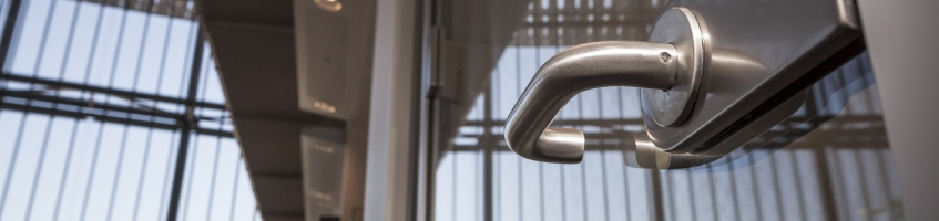 Antimicrobial Copper door furniture at Francis Crick Institute, London