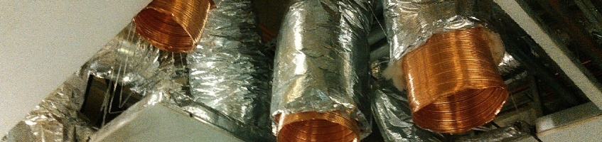 Copper ducting in the University of Miami Lennar Foundation Medical Center