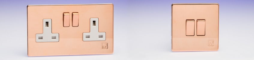 Varilight antimicrobial copper switches at Screwfix